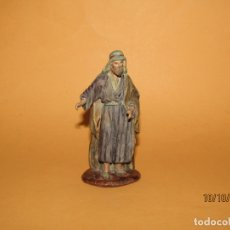 Figuras de Belén: ANTIGUA FIGURA DE BELÉN EN TERRACOTA MARCADA EN LA BASE. Lote 179389336