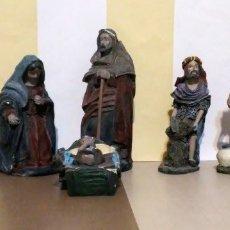 Figuras de Belén: LOTE FIGURAS BELEN SAN JOSE MARIA NIÑO JESUS Y + BELEN NATIVIDAD. Lote 180423311