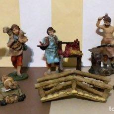 Figuras de Belén: LOTE FIGURAS BELEN NIÑO JESUS HERRERO CARNICERO Y + BELEN NATIVIDAD. Lote 180424233