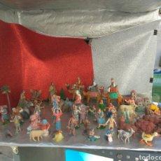 Figuras de Belén: FIGURAS BELÉN PLÁSTICO LOTE +DE 70 PIEZAS. Lote 181176763