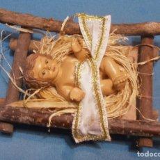 Figuras de Belén: NIÑO JESUS EN CUNA PARA BELEN. Lote 181218090