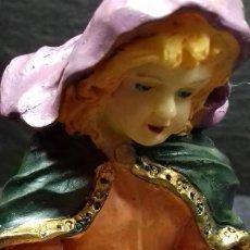 Figuras de Belén: LOTE DE 10 BELLAS FIGURAS BELÉN EN RESINA O SIMILAR DECORADO A MANO SIN USO EN SU CAJA ORIGINAL. Lote 182205637