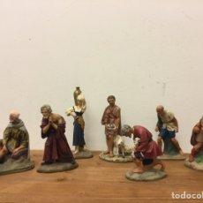 Figurines pour Crèches de Noël: PASTORES - NACIMIENTO - PESEBRE - BELEN - 14 CM - BASE DE MADERA. Lote 182476163