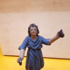 Figuras de Belén: FIGURA PASTOR PESEBRE, BELÉN, BARRO O TERRACOTA.. Lote 182960591
