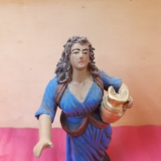 Figurines pour Crèches de Noël: FIGURA PASTORA CON JARRÓN PESEBRE, BELÉN, BARRO O TERRACOTA.. Lote 182968610