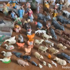 Figuras de Belén: SUPER LOTE DE MÁS DE 80 PIEZAS DE FIGURAS * ANIMALES * ACCESORIOS DE BELÉN * VER FOTOS. Lote 183006301