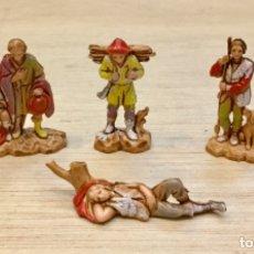 Figuras de Belén: BELEN. LOTE DE 4 PASTORES 3,5 CMS. MORANDUZZO. Lote 183006370