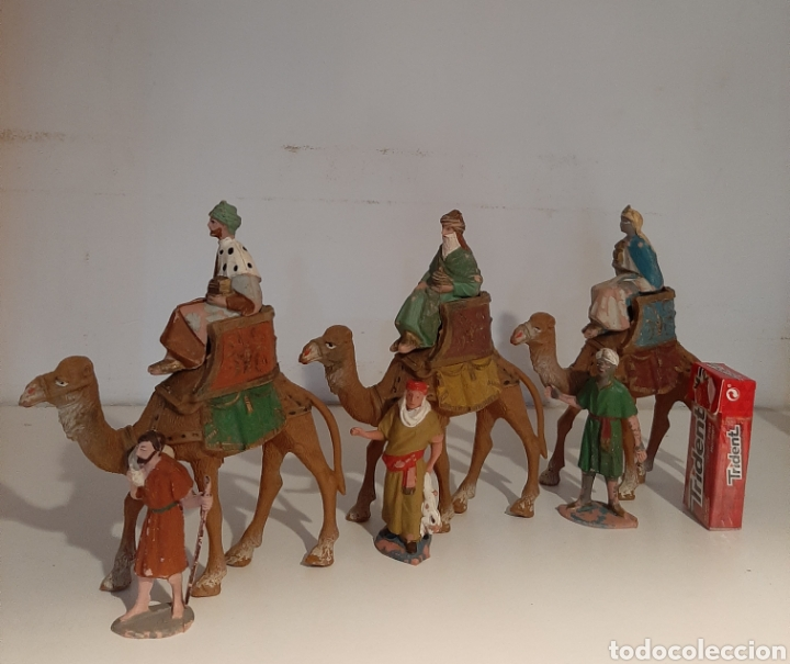 LOTE REYES MAGOS BELÉN (Coleccionismo - Figuras de Belén)