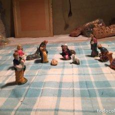 Figuras de Belén: ANTIGUO NACIMIENTO / FIGURAS DE BELÉN SAN JOSÉ VIRGEN MARIA, ASNO, NIÑO JESUS, BUEY ETC AÑOS 60. Lote 183294172