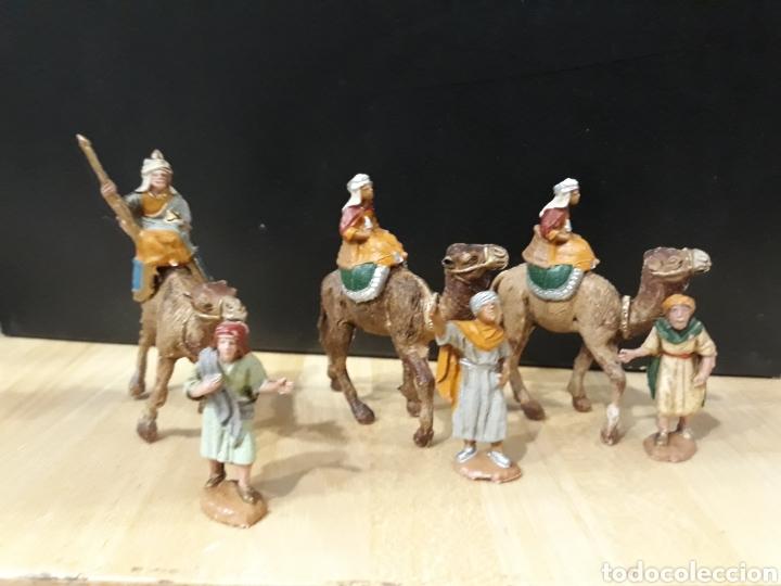 REYES MAGOS DE PLASTICO 3 CM NUEVOS (Coleccionismo - Figuras de Belén)