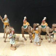 Figurines pour Crèches de Noël: REYES MAGOS DE PLASTICO 3 CM NUEVOS. Lote 183433581