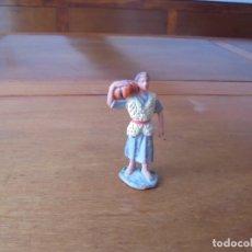 Figuras de Belén: ANTIGUA FIGURA DE PLÁSTICO, AÑOS 70, PARA PORTAL DE BELÉN: PASTOR CON CALABAZA. Lote 183527245