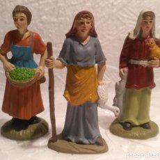 Figuras de Belén: LOTE 3 PASTORAS PARA PORTAL DE BELÉN O NACIMIENTO DE NAVIDAD. Lote 183528003