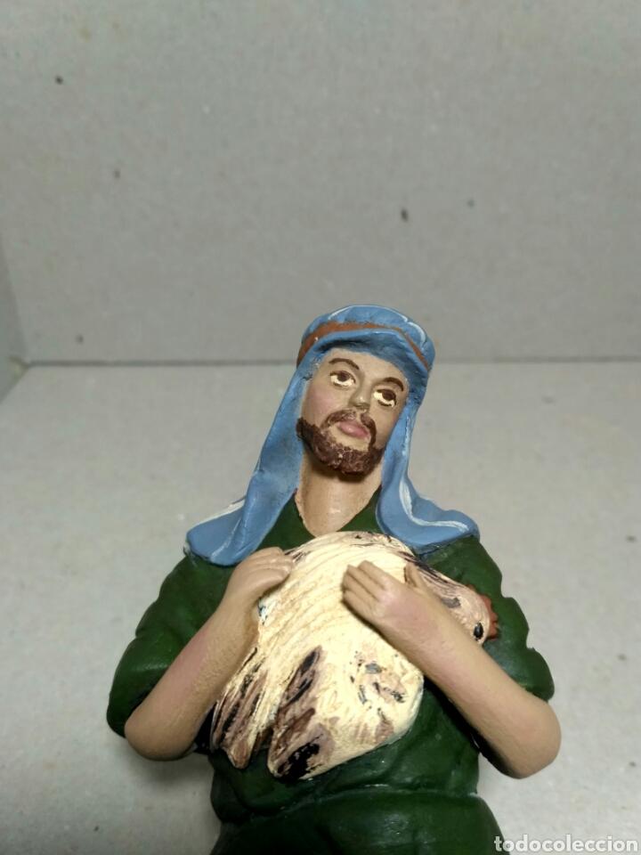 Figuras de Belén: Figura de belen, pesebre, de terracota. Pastor adorando - Foto 2 - 183731832