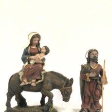 Figuras de Belén: HUIDA A EGIPTO EN RESINA. Lote 184098856