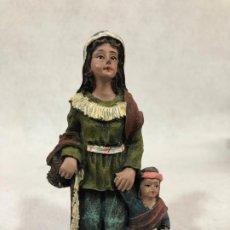 Figuras de Belén: FIGURA DE CAMPESINA CON NIÑO. Lote 184100676