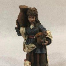 Figuras de Belén: FIGURA DE AGUADORA CON GATO. Lote 184103960