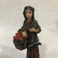 Figuras de Belén: FIGURA DE CAMPESINA CON CESTO. Lote 184104746