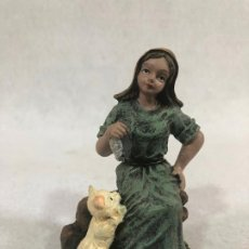 Figuras de Belén: FIGURA DE CAMPESINA CON GATO Y PESCADO. Lote 184104908