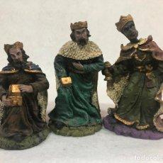 Figuras de Belén: FIGURA REYES MAGOS ADORANDO . Lote 184105640