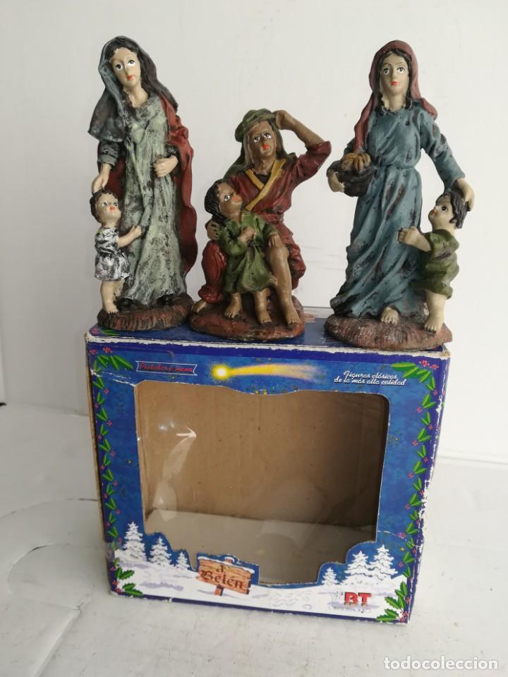3 PRECIOSAS FIGURAS BELÉN ALTA CALIDAD BOYS TOYS S.A (Coleccionismo - Figuras de Belén)