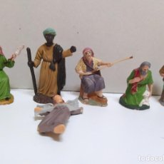 Figuras de Belén: LOTE DE 5 PASTORES BELEN NACIMIENTO. Lote 186094295