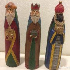 Figuras de Belén: BELEN - REYES MAGOS - ESCAYOLA POLICROMADA. Lote 186318707