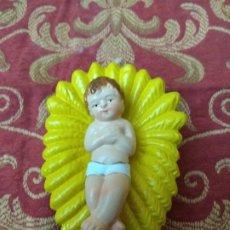 Figuras de Belén: FIGURA BELEN PESEBRE NACIMIENTO NAVIDAD BARRO TERRACOTA MUY ANTIGUOS NIÑO JESUS. Lote 186436941
