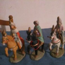 Figuras de Belén: REYES MAGOS EN TERRACOTA. Lote 186443161