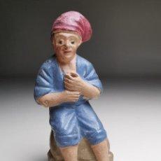 Figuras de Belén: FIGURA DE BELEN PESEBRE TERRACOTA -CATALAN -BARRETINA- PASTOR- 8 CM. Lote 186452405