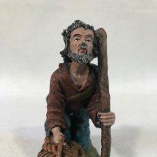 Figuras de Belén: PASTOR ADORANDO CON CESTO DE PANES. Lote 187083682