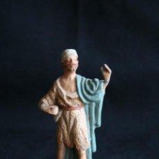 Figuras de Belén: PASTOR CON MORRAL ,DE BELEN O PESEBRE EN BARRO O TERRACOTA .POSIBLEMENTE SEA DE CASTELLS ¡. Lote 187187130