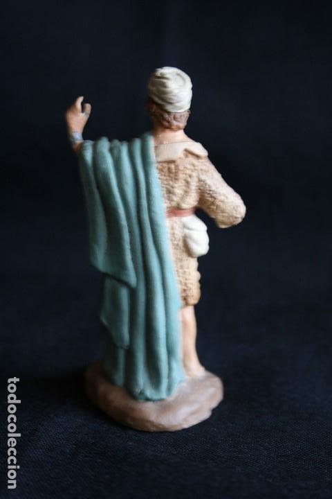 Figuras de Belén: PASTOR CON MORRAL ,DE BELEN O PESEBRE EN BARRO O TERRACOTA .posiblemente sea de castells ¡ - Foto 2 - 187187130