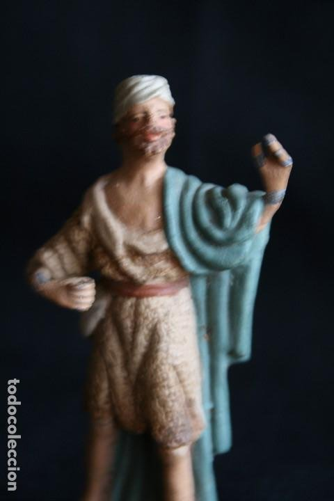 Figuras de Belén: PASTOR CON MORRAL ,DE BELEN O PESEBRE EN BARRO O TERRACOTA .posiblemente sea de castells ¡ - Foto 6 - 187187130