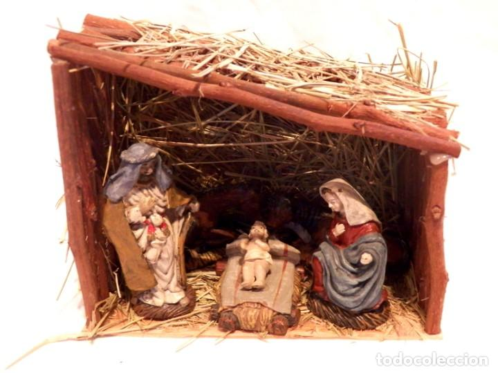 Figuras de Belén: Figuras de Belen, Figuras de Resina, Escena de Navidad, Figuras Navidad Jesús, 5 Figuras - Foto 2 - 187498567