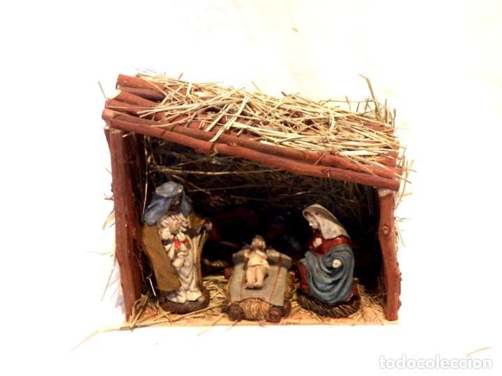Figuras de Belén: Figuras de Belen, Figuras de Resina, Escena de Navidad, Figuras Navidad Jesús, 5 Figuras - Foto 3 - 187498567