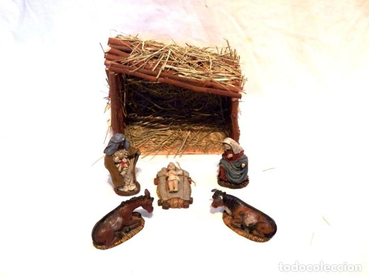Figuras de Belén: Figuras de Belen, Figuras de Resina, Escena de Navidad, Figuras Navidad Jesús, 5 Figuras - Foto 4 - 187498567