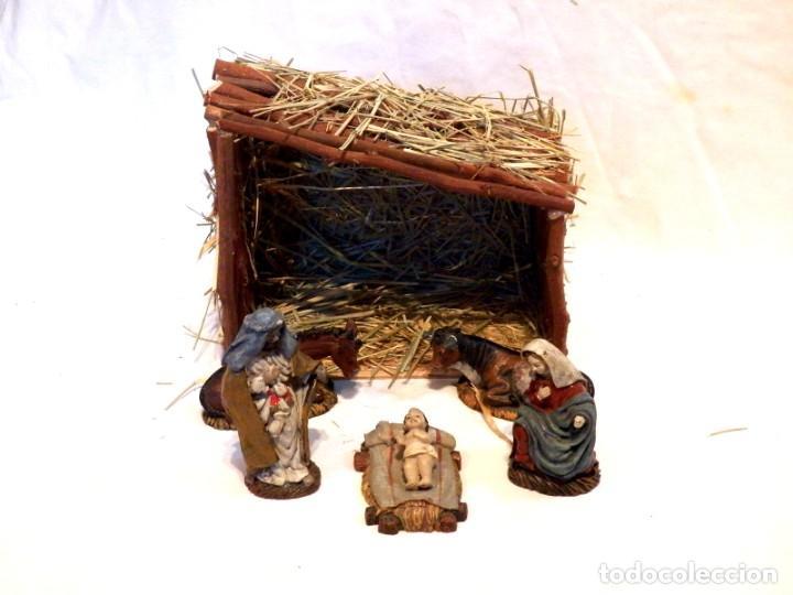 Figuras de Belén: Figuras de Belen, Figuras de Resina, Escena de Navidad, Figuras Navidad Jesús, 5 Figuras - Foto 7 - 187498567