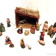 Figuras de Belén: FIGURAS DE PORCELANA, ESCENA DE NAVIDAD, NATIVIDAD JESÚS, 24 FIGURAS BELEN, ANTIGUAS FIGURAS NAVIDAD. Lote 187498823