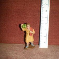 Figuras de Belén: PLASTICO MINIATURAS SERIE 4,5 CM PECH PASTOR FRUTA APROX 1970 BELEN NACIMIENTO. Lote 188820755
