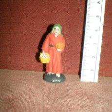 Figuras de Belén: PLASTICO MINIATURAS SERIE 4,5 CM PECH PASTORA CESTA HUEVOS APROX 1970 BELEN NACIMIENTO. Lote 188821120