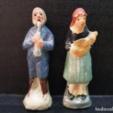 Figuras de Belén: ANTIGUAS FIGURAS BELEN NACIMIENTO MUSICOS MURCIANO BARRO O TERRACOTA. Lote 189253993