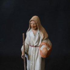 Statuine di Presepe: PASTORA CON CESTO. PESEBRE, BELEN .TERRACOTA O BARRO. Lote 190210851