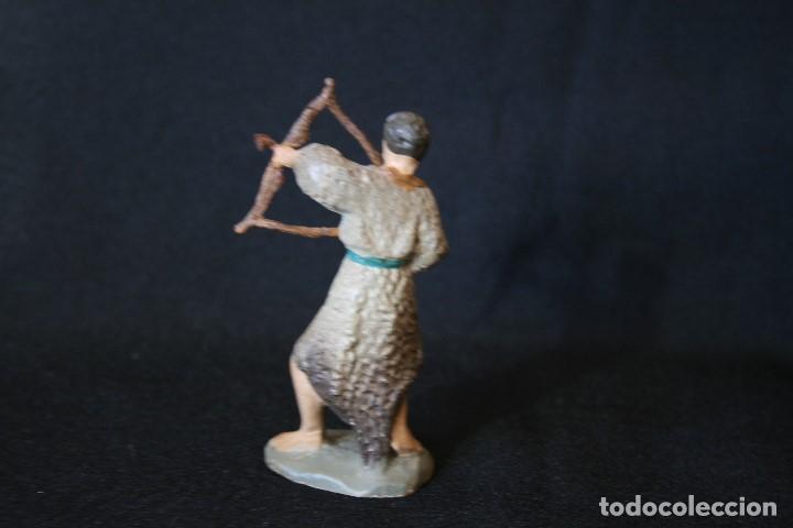 Figuras de Belén: EXTRAORDINARIO PASTOR CON ARCO, DE PESEBRE, BELEN .TERRACOTA O BARRO - Foto 5 - 190214190