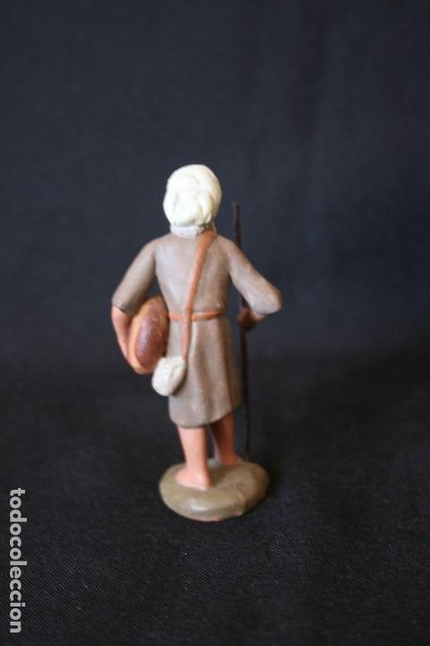 Figuras de Belén: EXTRAORDINARIO PASTOR CON PAN Y MORRAL . PESEBRE, BELEN .TERRACOTA O BARRO - Foto 4 - 190217185