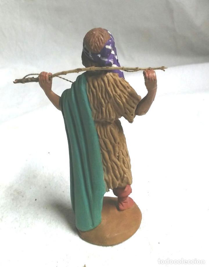 Figuras de Belén: Pastor Manelic, terracota y extremidades plomo años 50. Med. 9 cm - Foto 2 - 190695556