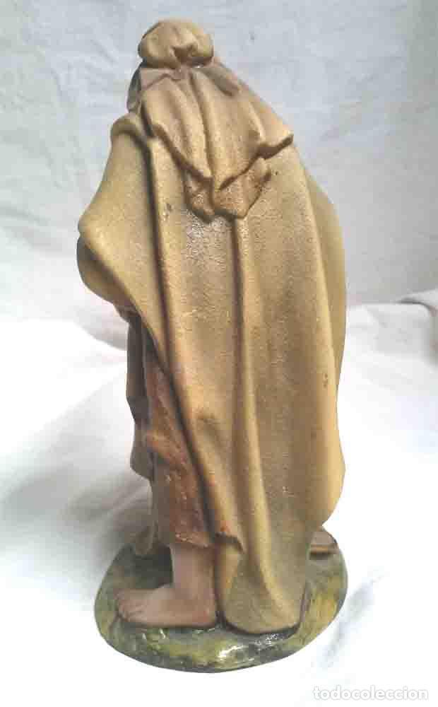 Figuras de Belén: Nazareno, estuco policromado, escuela de Olot. Med 19 cm - Foto 2 - 191158097
