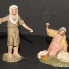 Figuras de Belén: LOTE DE FIGURAS DE BELEN O PESSEBRE EN TERRACOTA - PERSONAJES. Lote 192800623