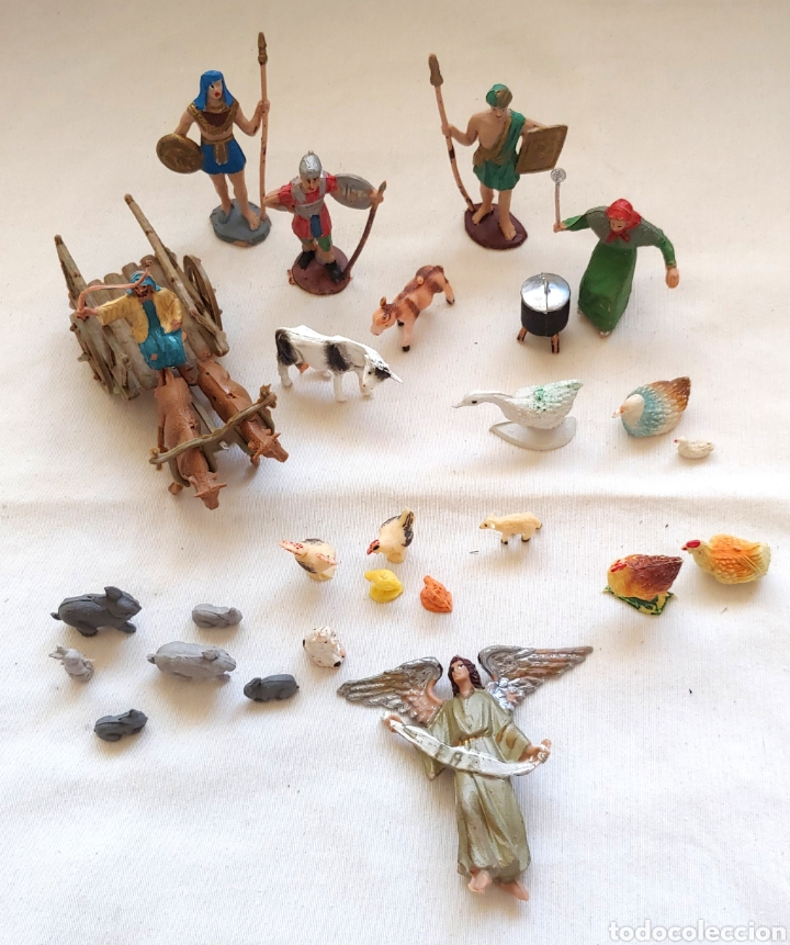26 FIGURAS PARA EL BELÉN EN PLÁSTICO DURO (Coleccionismo - Figuras de Belén)