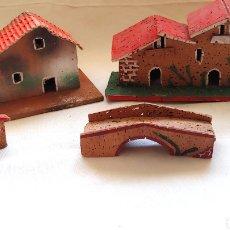 Figuras de Belén: 5 CASAS PARA EL BELÉN EN CORCHO. Lote 192682317